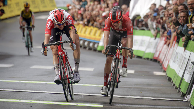 Wellens does the double with narrow sprint win in Houffalize