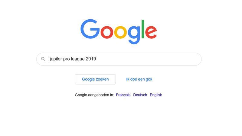 'Jupiler Pro League' meest gezochte Belgische sportterm op Google