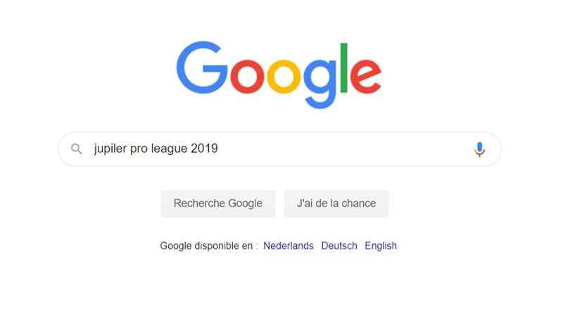 'Jupiler Pro League' recherche de sport belge la plus populaire sur Google