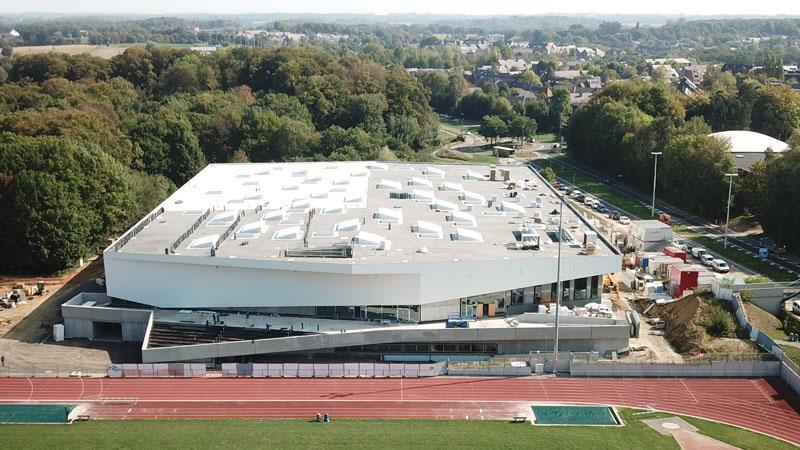 Indoor atletiekpiste in Louvain-la-Neuve is bijna klaar voor inauguratie
