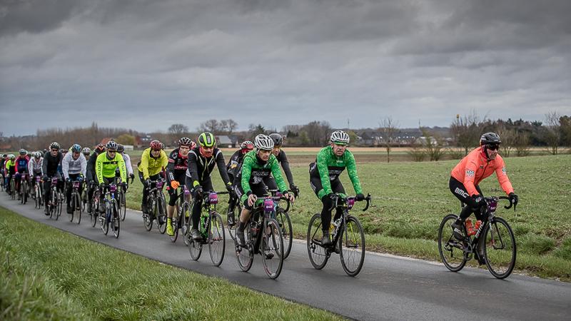 Wind kan de pret niet bederven in de Omloop van Vlaanderen