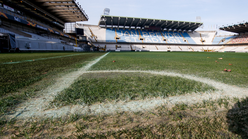Le Club de Bruges sur une nouvelle pelouse
