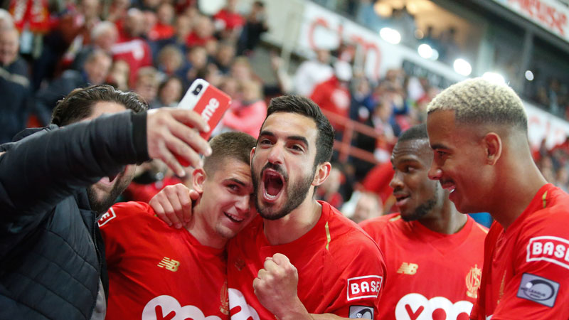 Toeschouwersaantallen Jupiler Pro League Play-Offs speeldag 9