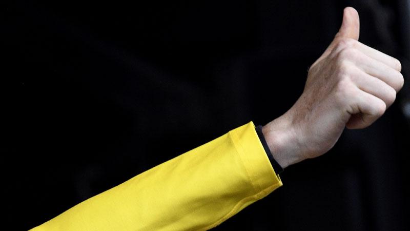 Tout le monde en jaune lors du Championnat de Belgique à Gand