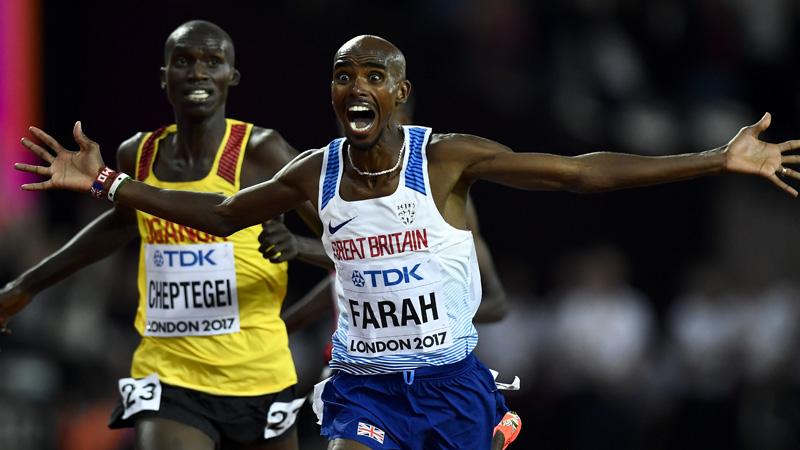 Farah gaat in Tokio voor derde goud op 10.000 meter