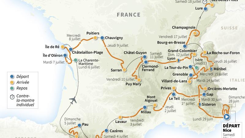 Le Tour de France 2020 sera montagneux !