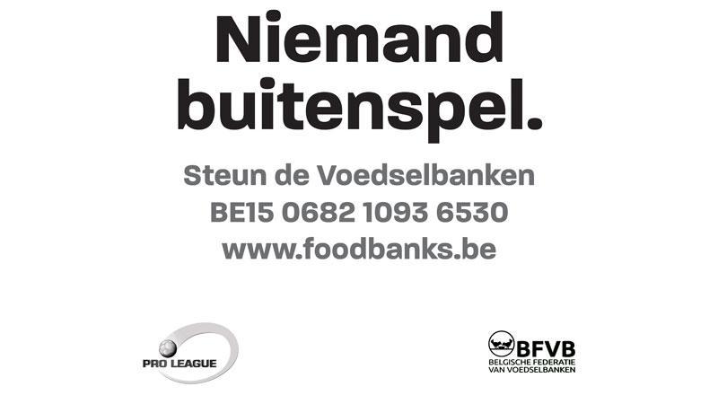 Pro League schenkt 50.000 maaltijden aan de Voedselbanken
