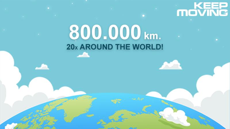 Déjà 20 fois le tour du monde avec Keep Moving !