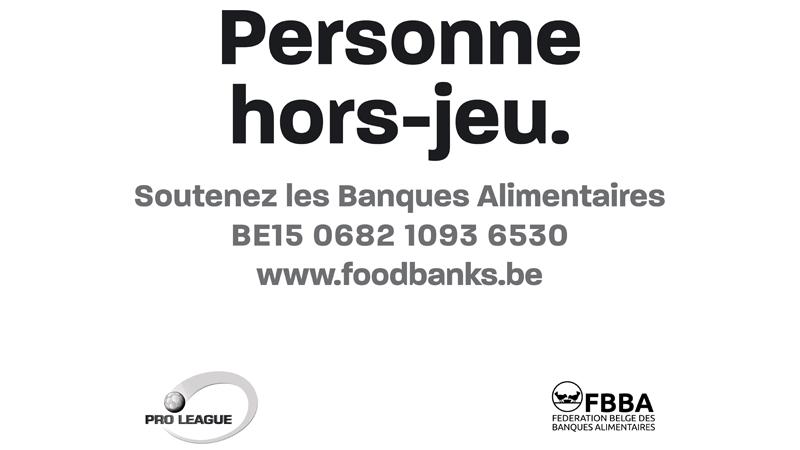 La Pro League offre 50.000 repas aux banques alimentaires