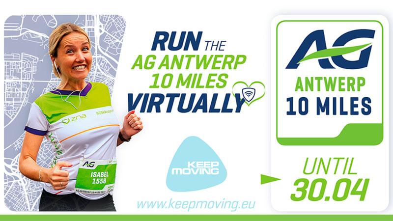 Al 6000 deelnemers voor de eerste virtuele AG Antwerp 10 Miles