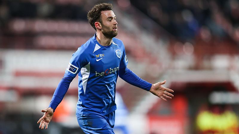 Genk wint in Kortrijk dankzij volley van Wouters