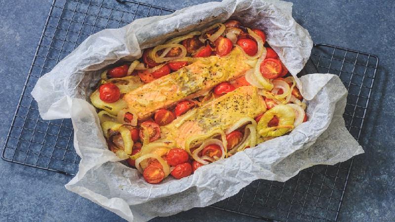 Recept voor na het lopen: zalm met zoete aardappel uit de oven