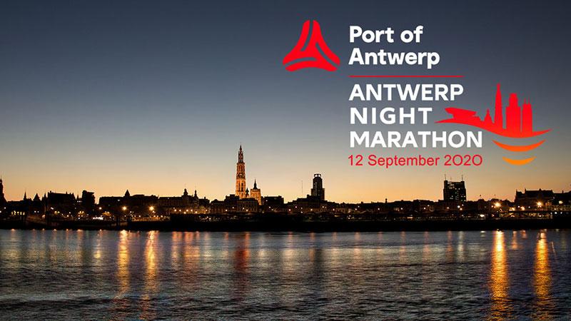 Dit is het parcours van de Port of Antwerp Night Marathon!