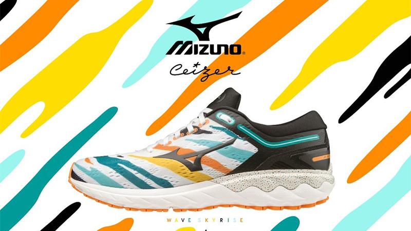 Kunst aan je voeten met Mizuno's limited edition van de Wave Skyrise
