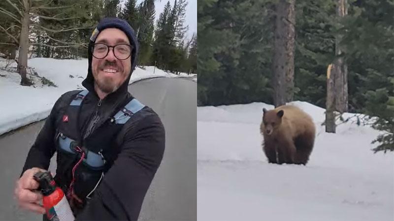Que feriez-vous si vous étiez poursuivi par un ours ? (vidéo)
