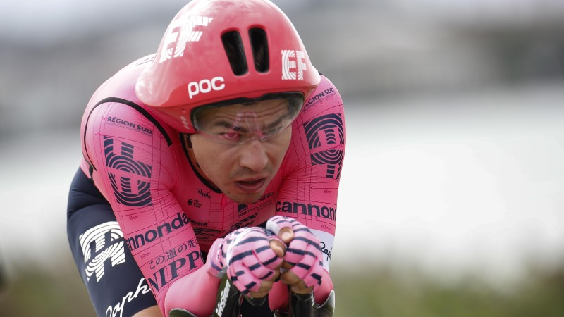 Bissegger takes overall lead after dominant time trial win
