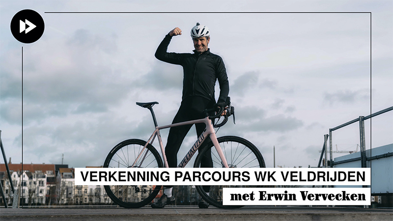 Vervecken verkent WK-parcours Oostende (VIDEO)
