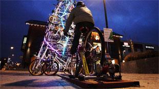Vrolijk kerstfeest vanop de fiets!