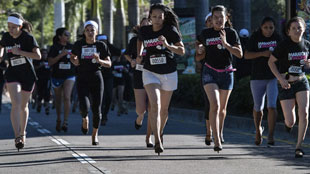 Marathon op hoge hakken