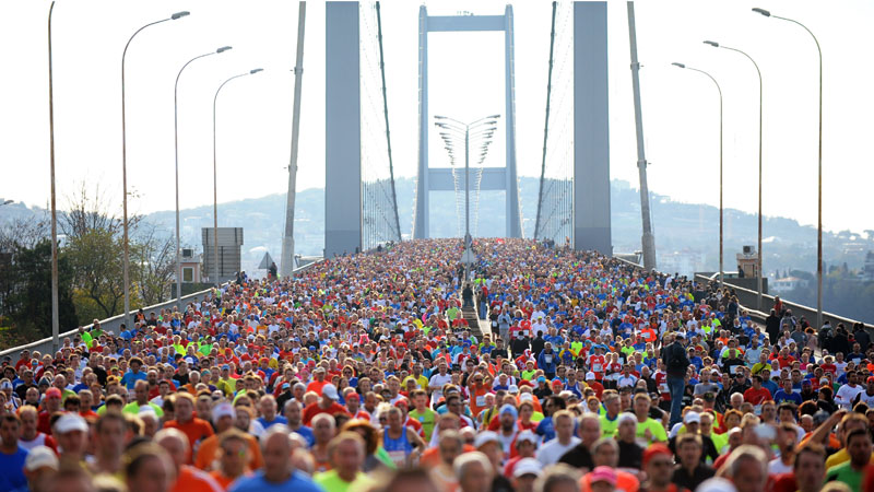 Marathon over twee continenten