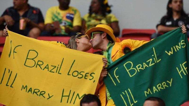 WK 2014: Brazilië-Nederland