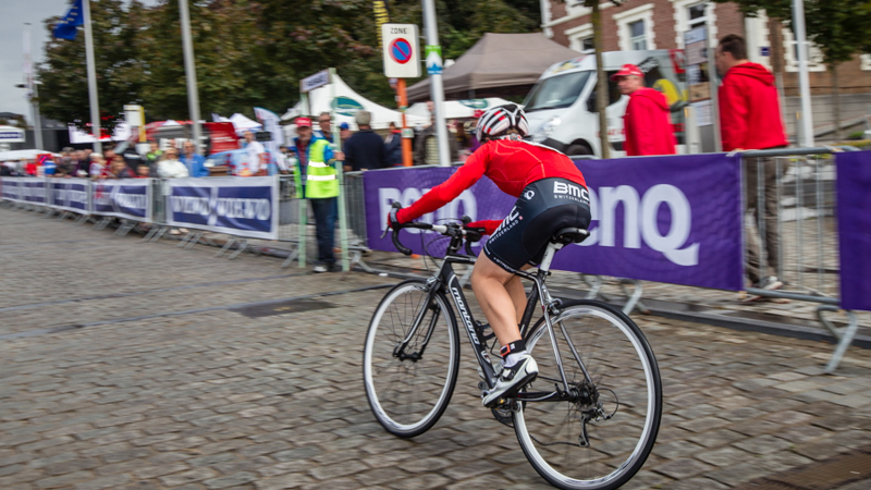 Eneco Tour: time trial recreational cyclists Geraardsbergen