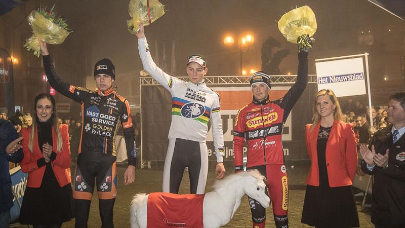 Resultado de imagen de van der poel waregem 2015 podium