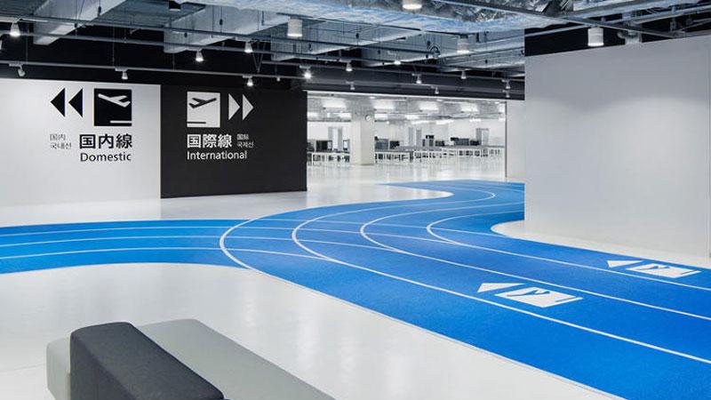 Les Japonais installent une piste d'athlétisme à l'aéroport