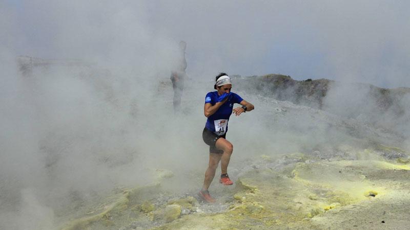 Lopen op een vulkaan