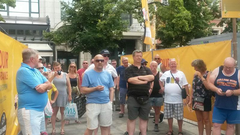Opening Tour-fanpark Groenplaats