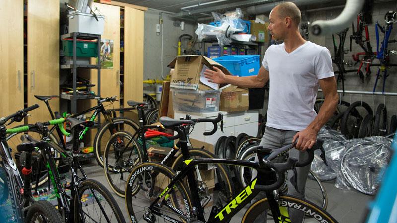 De fietsgarage van Sven Nys
