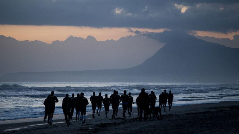 Jupiler Pro League op het strand