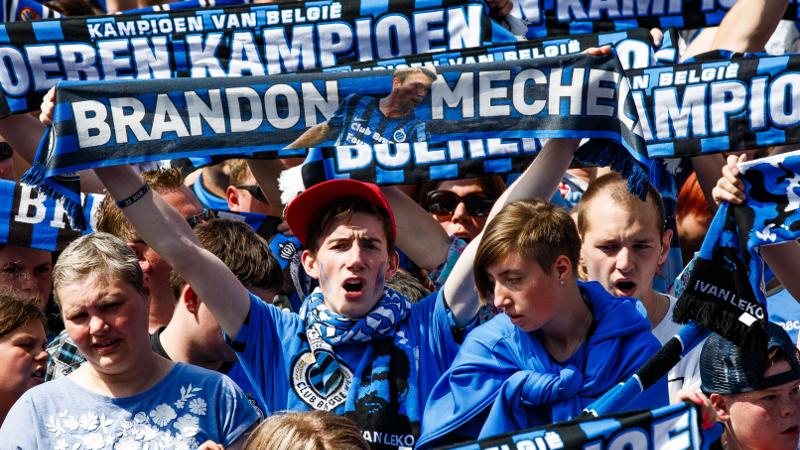 Huldiging Club Brugge