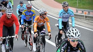 Boonen fietst met fans