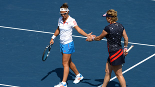 US Open: doubles Kim/Flipkens
