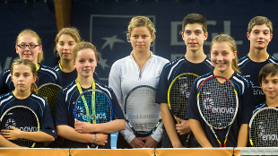 Meet and greet with Kim Clijsters in Luxemburg
